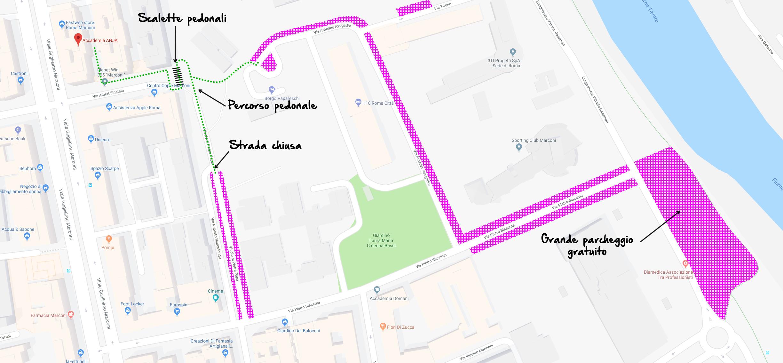 Dove parcheggiare a Roma, zona Marconi.