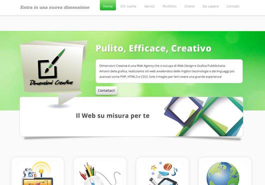 Dimensioni Creative web agency sviluppa siti responsive, vetrina, e-commerce, loghi e grafica, pagine facebook, seo, naming e copy. Ci trovi a Parma e Roma